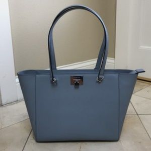 NWT Michael Kors Tina Blue Shoulder Tote Bag $498